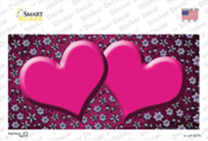 Pink Purple Flowers Hearts Oil Rubbed Wholesale Novelty Sticker Decal