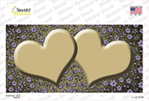 Gold Purple Flowers Hearts Oil Rubbed Wholesale Novelty Sticker Decal