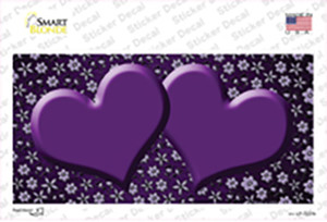 Purple Flowers Hearts Oil Rubbed Wholesale Novelty Sticker Decal