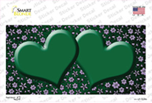 Green Purple Flowers Hearts Oil Rubbed Wholesale Novelty Sticker Decal
