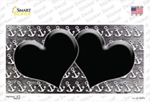 Black White Anchor Hearts Oil Rubbed Wholesale Novelty Sticker Decal