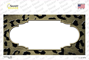 Gold Black Cheetah Scallop Oil Rubbed Wholesale Novelty Sticker Decal