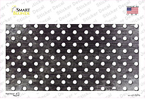Black White Small Dots Oil Rubbed Wholesale Novelty Sticker Decal