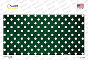 Green White Small Dots Oil Rubbed Wholesale Novelty Sticker Decal