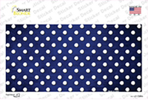 Blue White Small Dots Oil Rubbed Wholesale Novelty Sticker Decal