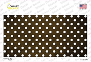 Brown White Small Dots Oil Rubbed Wholesale Novelty Sticker Decal