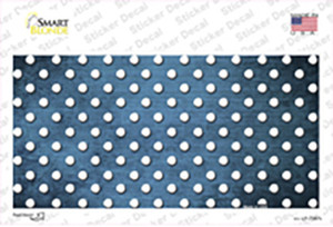 Light Blue White Small Dots Oil Rubbed Wholesale Novelty Sticker Decal