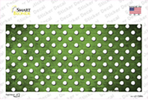 Lime Green White Small Dots Oil Rubbed Wholesale Novelty Sticker Decal