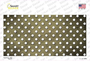 Gold White Small Dots Oil Rubbed Wholesale Novelty Sticker Decal