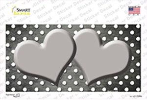 Gray White Small Dots Hearts Oil Rubbed Wholesale Novelty Sticker Decal