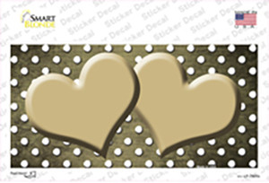 Gold White Small Dots Hearts Oil Rubbed Wholesale Novelty Sticker Decal
