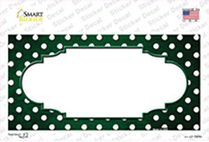 Green White Small Dots Scallop Oil Rubbed Wholesale Novelty Sticker Decal