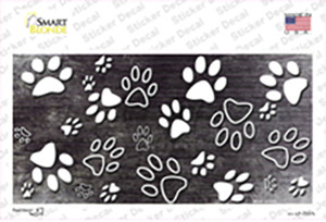 Black White Paw Oil Rubbed Wholesale Novelty Sticker Decal
