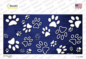 Blue White Paw Oil Rubbed Wholesale Novelty Sticker Decal