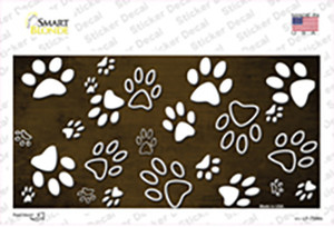 Brown White Paw Oil Rubbed Wholesale Novelty Sticker Decal