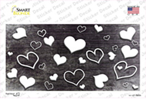 Black White Love Oil Rubbed Wholesale Novelty Sticker Decal