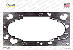 Black White Love Scallop Oil Rubbed Wholesale Novelty Sticker Decal