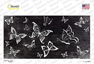 Black White Butterfly Oil Rubbed Wholesale Novelty Sticker Decal