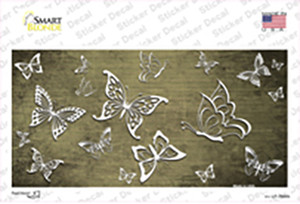 Gold White Butterfly Oil Rubbed Wholesale Novelty Sticker Decal