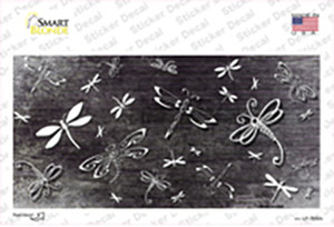 Black White Dragonfly Oil Rubbed Wholesale Novelty Sticker Decal