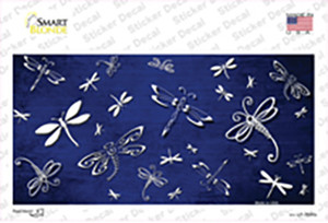 Blue White Dragonfly Oil Rubbed Wholesale Novelty Sticker Decal