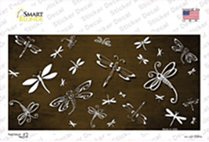 Brown White Dragonfly Oil Rubbed Wholesale Novelty Sticker Decal