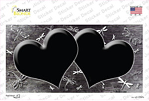 Black White Dragonfly Hearts Oil Rubbed Wholesale Novelty Sticker Decal