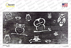 Black White Owl Oil Rubbed Wholesale Novelty Sticker Decal