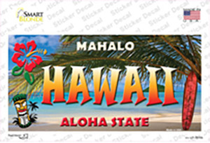 Hawaii State Wholesale Novelty Sticker Decal