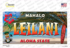 Leilani Hawaii State Wholesale Novelty Sticker Decal