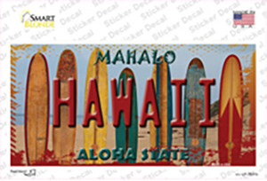 Hawaii Surfboards State Wholesale Novelty Sticker Decal