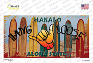 Hang Loose Surfboards Hawaii State Wholesale Novelty Sticker Decal