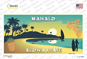 Mahalo Pineapple Hawaii Blank State Wholesale Novelty Sticker Decal