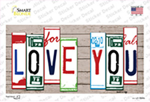 Love You Art Wood Wholesale Novelty Sticker Decal