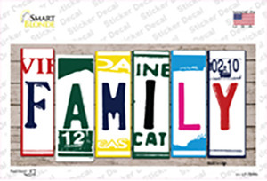 Family Art Wood Wholesale Novelty Sticker Decal