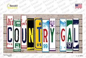 Country Gal Art Wholesale Novelty Sticker Decal