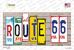 Route 66 Art Wood Wholesale Novelty Sticker Decal