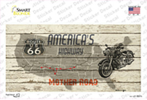 Americas Highway Route 66 Wholesale Novelty Sticker Decal