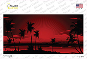 Sunset Red Wholesale Novelty Sticker Decal