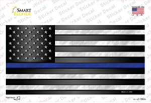 American Flag Thin Blue Line Flag Wholesale Novelty Sticker Decal
