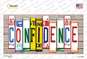 Confidence Wood Art Wholesale Novelty Sticker Decal