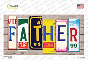 Father Wood Art Wholesale Novelty Sticker Decal