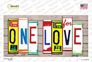 One Love Wood Art Wholesale Novelty Sticker Decal