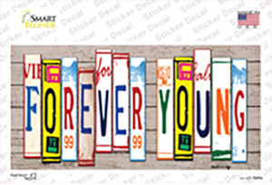 Forever Young Wood Art Wholesale Novelty Sticker Decal