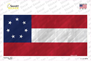 Confederate Flag First 7 Stars Wholesale Novelty Sticker Decal