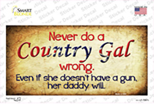 Country Gal Wrong Wholesale Novelty Sticker Decal
