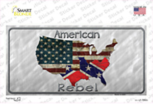 American Rebel Map Wholesale Novelty Sticker Decal