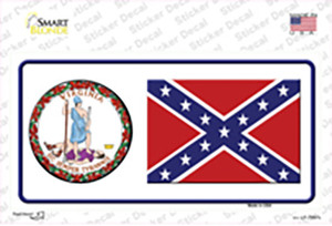 Confederate Flag Virginia Seal Wholesale Novelty Sticker Decal