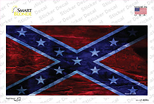 Confederate Flag Foiled Wholesale Novelty Sticker Decal