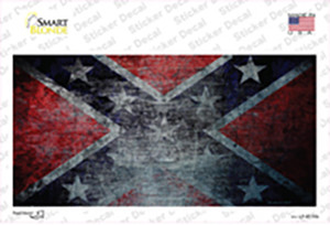Confederate Flag Scratched Wholesale Novelty Sticker Decal
